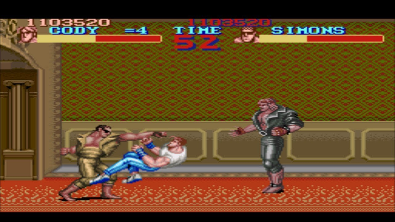 Lets Play Final Fight Part 8 The Most Beautiful Wallpaper Ever Invented In The History Of Mankind