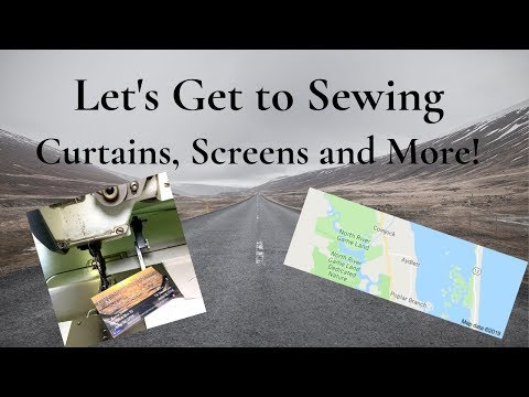 Let's Get Sewing! Curtains, Screens, and More.