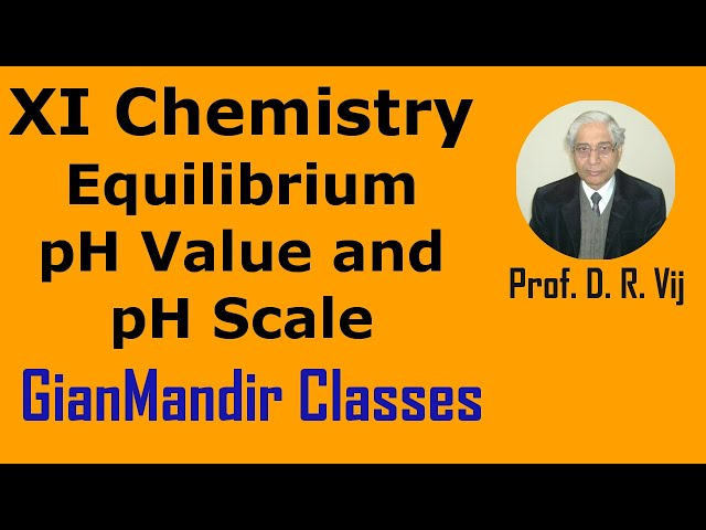 XI Chemistry | Equilibrium | pH Value and pH Scale by Ruchi Ma'am