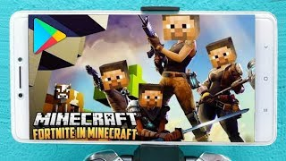 EOQ!! NEW COPY of FORTNITE MINECRAFT STYLE (90MB) CAME OUT at PLAY STORE-TA LOKÃO GAME (DOWNLOAD)