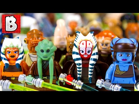 Every Lego Jedi Minifigure Ever!!! 127 Minifigs in total!!! | Collection Review