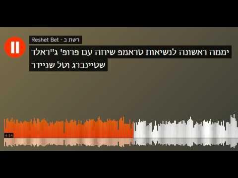 Prof. Gerald Steinberg, Trump's First Day, Reshet Bet, January 23, 2017 HEBREW