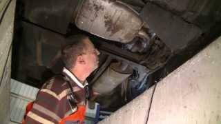 VW Passat Replacing the muffler, замена глушителя, Wechsel des Endschalldämpfers(, 2014-02-10T09:26:29.000Z)