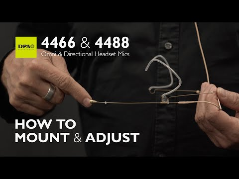 Learn how to mount and adjust 4466/4488 Headset Microphones properly