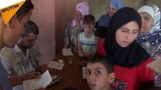 شاهد كيف تعامل الدولة السورية المهجرين داخل مراكز الإيواء