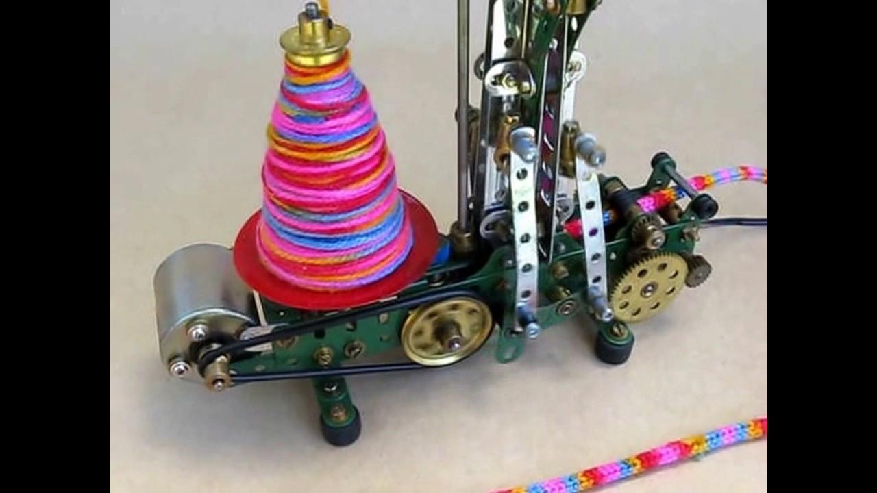 French Knitting Machine : Compact meccano french knitting machine youtube