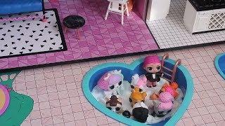 Bugün de Annemden Gizli LOL Evine Slime Havuzu Yaptım ve Eşyaları Açtım!! Bidünya Oyuncak