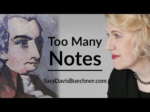Too Many Notes - Mozart Moments Ep. 7 With Sara Davis Buechner