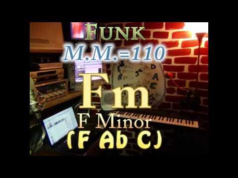 Fm Minor (F Ab C) One Chord Backing Track - Funk M.M.=110