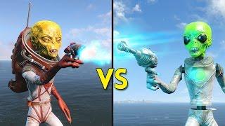 Fallout 4 -  100 ANIMATRONIC ALIENS vs 10 ALIENS - Battles #48