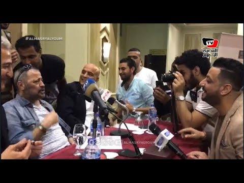جورج وسوف يشارك الصحفيين الغناء عقب انتهاء المؤتمر الصحفي لحفلته بمصر  - 23:53-2018 / 11 / 8