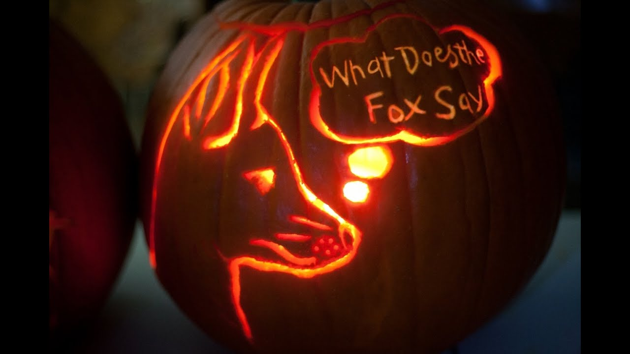 What Does The Fox Say Pumpkin Carving Template Youtube