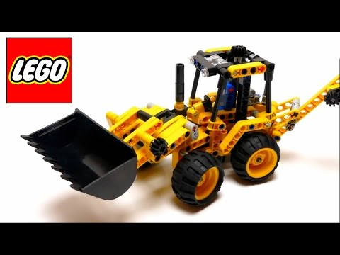 Lego Technic - Mini Backhoe Loader - 42004 - Assembly Instructions Video