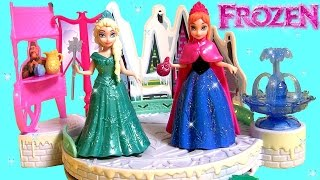 Disney Frozen Elsa's Ice Skating Rink Playset Winter Toy Magiclip Dolls Princess Anna Elsa Play Doh