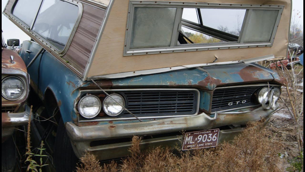 Muscle Car Junkyard Part 4: GTO, Impala SS and a 72 Barracuda in the ...