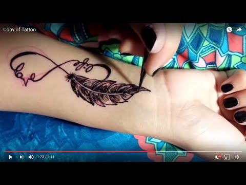 DIY Feather Tattoo Tutorial Using Henna and Jagua Paste