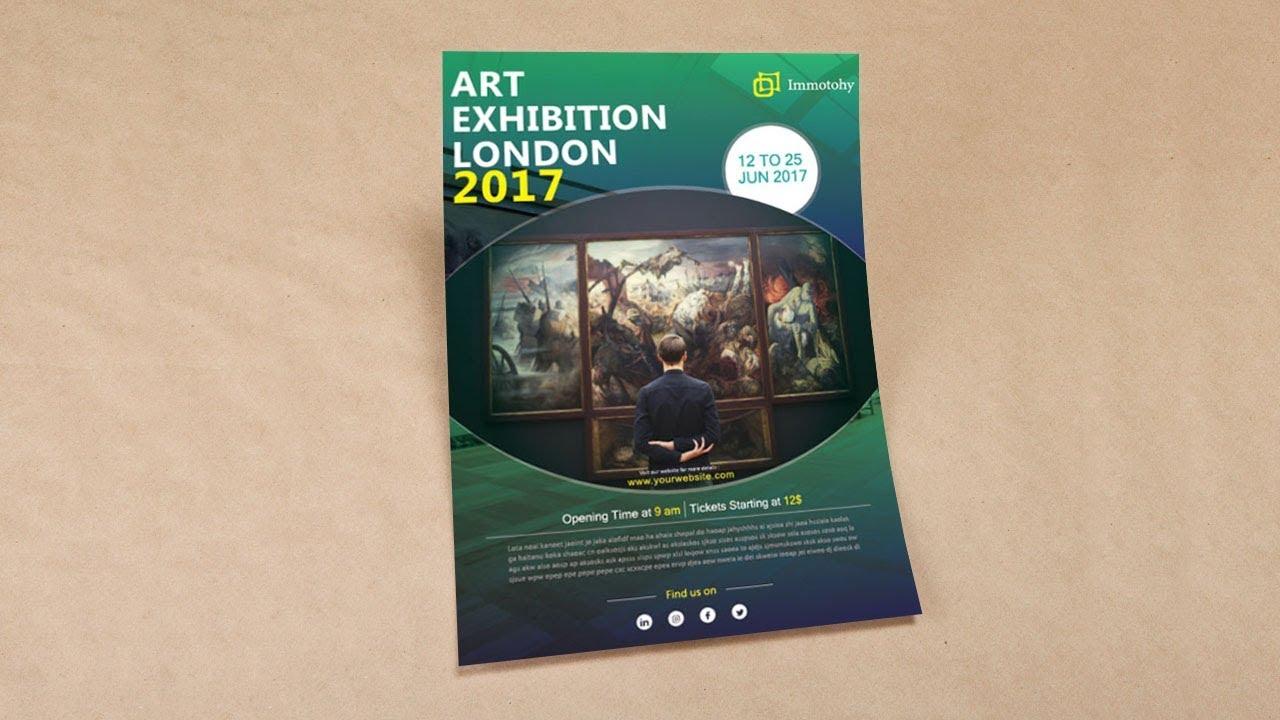 illustrator tutorial art exhibition flyer template youtube