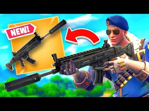 *NEW* SILENCED SCAR - Fortnite Battle Royale LIVE