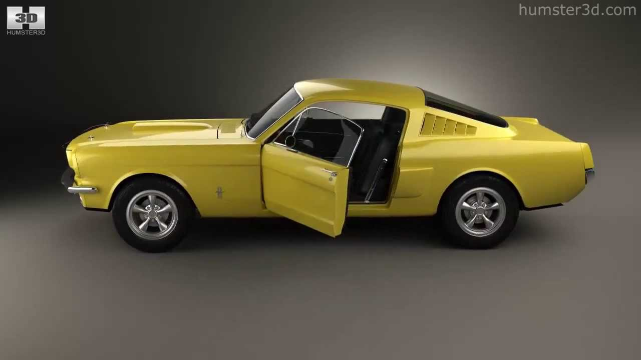 Ford mustang fastback with hq interior 1965 by 3d model store humster3d com