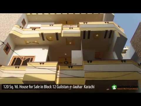 120 Sq  Yd  BRAND NEW HOUSE FOR SALE IN BLOCK 12 GULISTAN-E-JAUHAR KARACHI