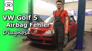 Volkswagen Golf 5 Airbag Diagnose  |   airbag diagnose  |  Tutorial  |  VitjaWolf  |  4K