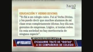 Nicolás Eyzaguirre trató de idiotas a ex compañeros de colegio Verbo Divino