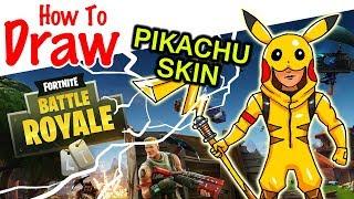 How to Draw Pikachu Skin | Fortnite