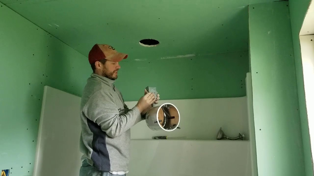 Installing Recessed Ceiling Shower Light Diy Youtube