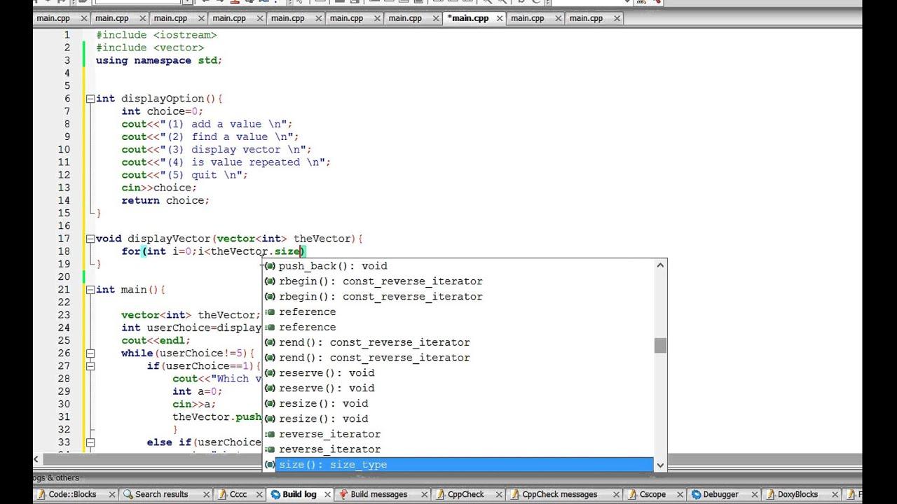 C++ program: Program with Vectors - YouTube