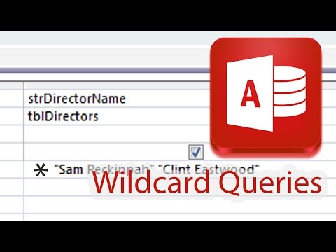 Wildcard Characters in Query Design Access 2013