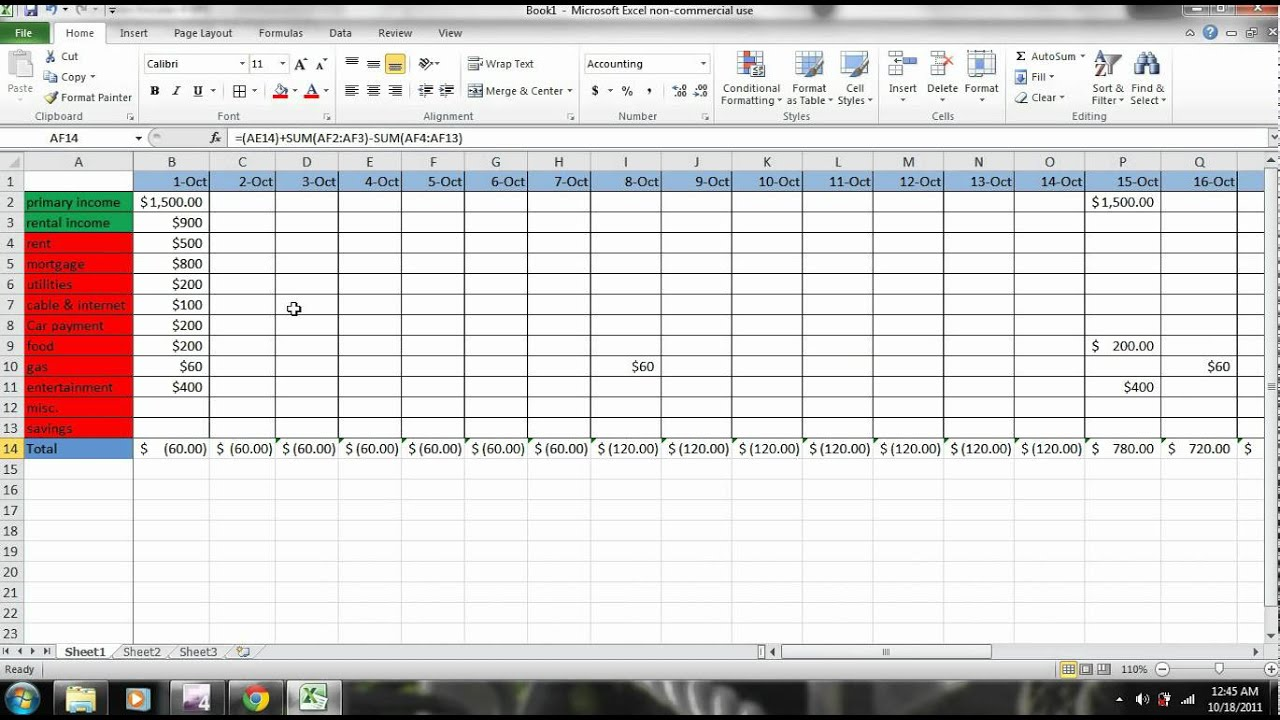 excel how to make a budget part 2 personal finance tutorial