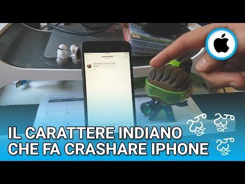 Il carattere INDIANO che fa crashare iPhone
