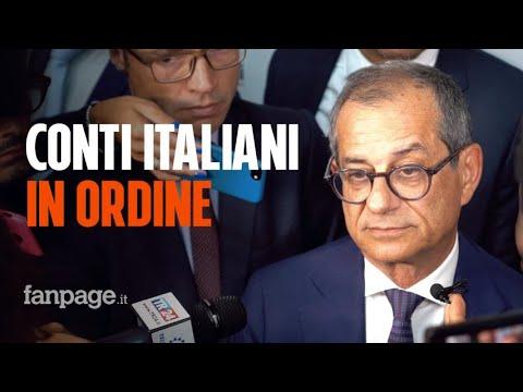 Ministro Giovanni Tria: 'L'economia italiana sta mostrando forte resistenza'