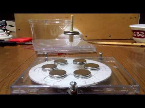 Levitation magnetic experiment 浮遊ゴマ 磁石 やっと成功した!! 空中浮遊ゴマ