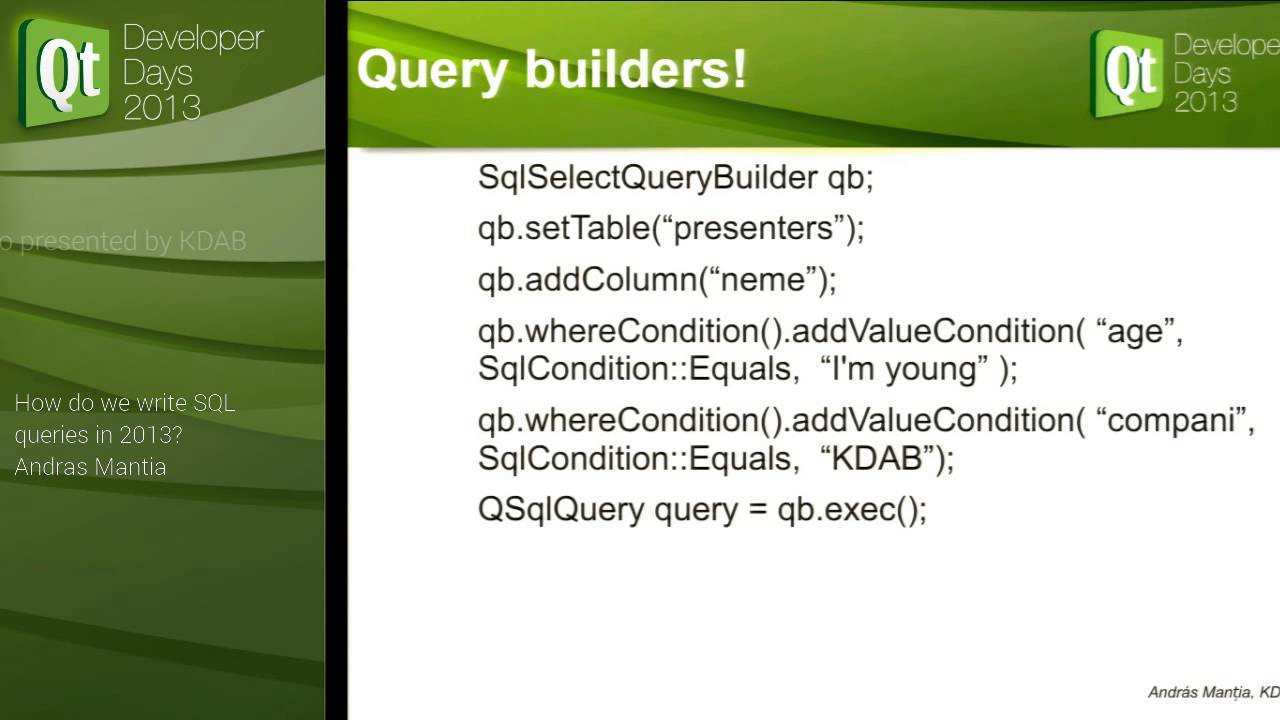 qtdd13  andras mantia  how do we write sql queries in