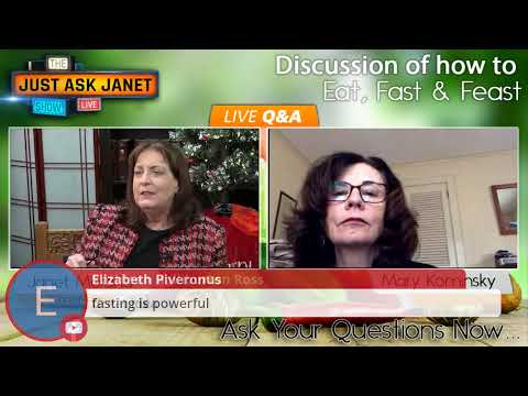 Just Ask Janet!! Getting Healthy in the New Year; Discussion of how to Eat, Fast & Feast