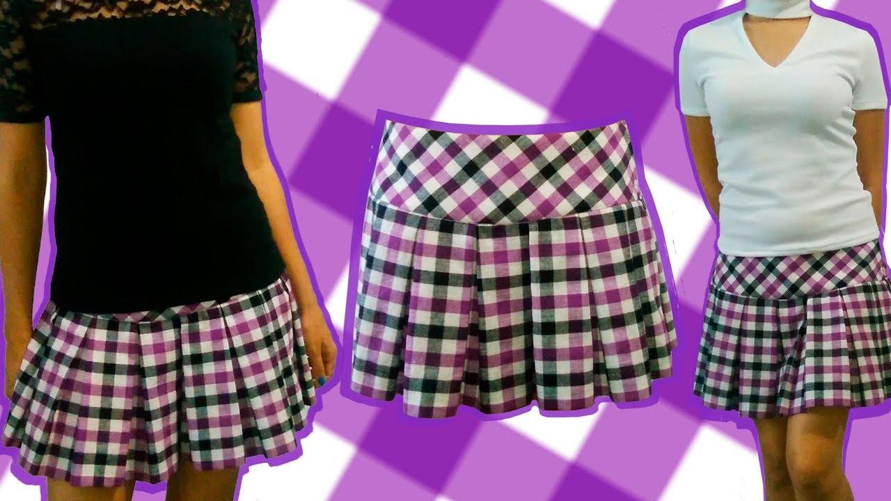 527d17efc1 Cómo hacer la Falda con Tablas (confección) - YouTube