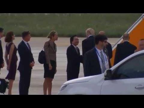 President Trump Leaves Da Nang For Hanoi, Vietnam To Attend State Banguet eleven/eleven/17