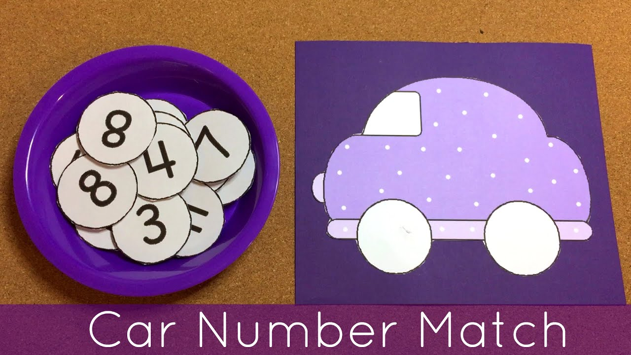 Car Number Match Preschool Learning Activity - YouTube