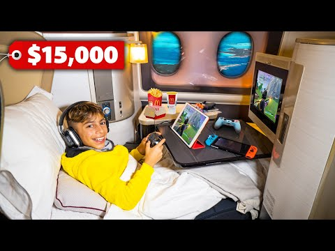 Traveling FIRST CLASS To DUBAI! ($15,000 Seat) | The Royalty Family