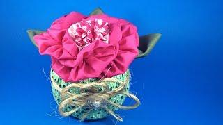 Peso de porta com flor de fuxico – Passo a passo – DIY