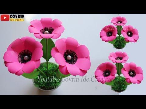 DIY Paper Flower Decoration Idea | Kreatif Cara Membuat Bunga Mawar Hias dari Kertas Origami