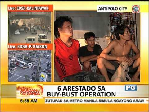 6 arestado sa drug raid sa Antipolo