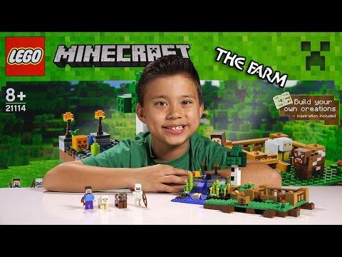 LEGO MINECRAFT - Set 21114 THE FARM - Unboxing, Review, Time-Lapse Build