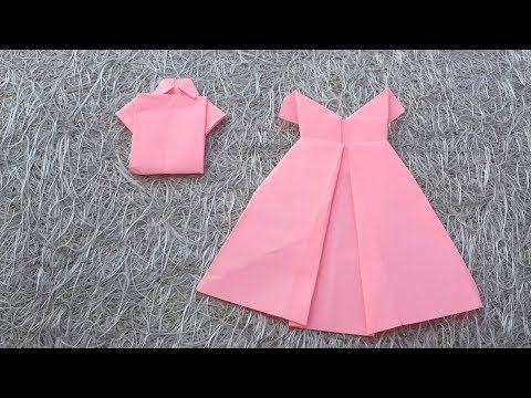 How to a Make Simple Paper 3D Shirt and Gown  | DIY Stuff