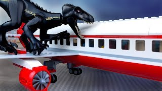 LEGO Jurassic World 2 🔴 Dinosaurs in the Lego City -5 (Airport Attack) PL Movie