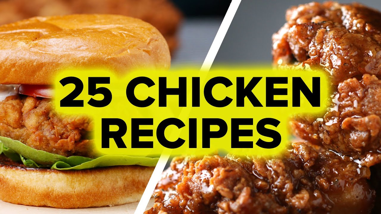 25 Chicken Recipes - YouTube
