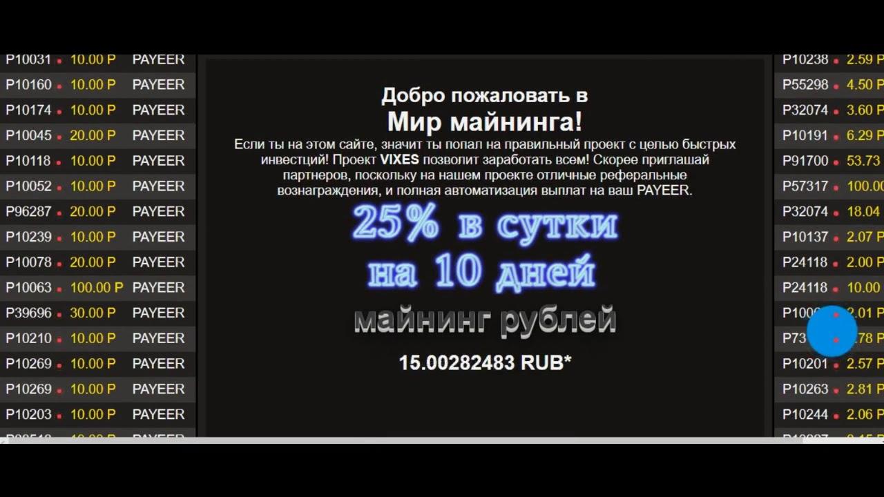 Старт нового инвестиционного проекта vixes +25% за 24 часа