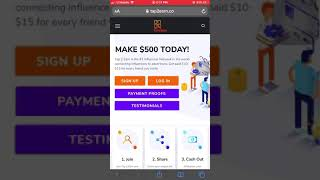 Refer Friends And Get Paid With Tap 2 Earn | Tap2Earn.co