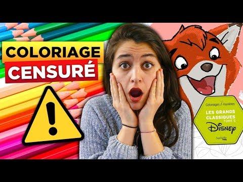 COLORIAGE MYSTERE INTERDIT PAR DISNEY !!!